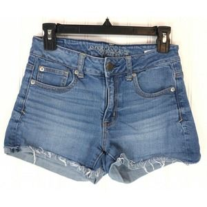 American Eagle Outfitters short distressed stretch